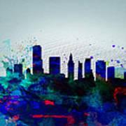 Miami Watercolor Skyline Poster