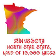Minnesota State Map Collection 2 Poster