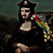 Mona Lisa Pirate Captain Poster