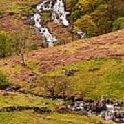 Nant Gwynant Waterfalls Iv Poster by Maciej Markiewicz