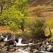 Nant Gwynant Waterfalls Vii Poster