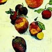 Peaches And Plums Poster