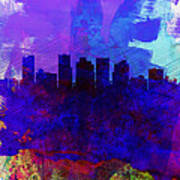 Phoenix Watercolor Skyline 1 Poster
