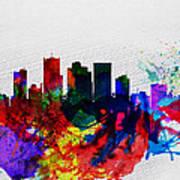 Phoenix Watercolor Skyline 2 Poster