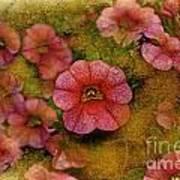 Pink Calibrachoa Photoart II   Poster