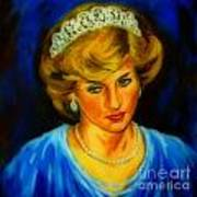 Portrait Of Lady Diana Poster