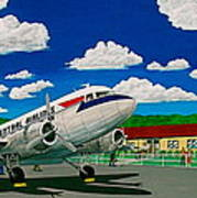 Portsmouth Ohio Airport And Lake Central Airlines Poster