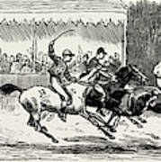 Prince Winning The Half-mile Pony Race For The Prince Poster