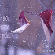 Purple Winter Poster by Irina Wardas