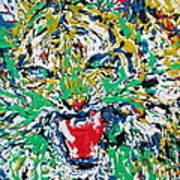 Roaring Enamel Tiger Poster