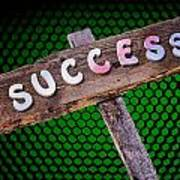 Success Sign Post Poster