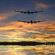 Sunset Lancasters Poster