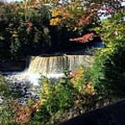Tahquamenon Falls In Autumn Poster