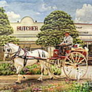 The Butchers Cart Poster by Trudi Simmonds
