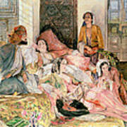 The Harem Poster by John Frederick Lewis