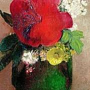 The Red Poppy Poster by Odilon Redon