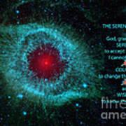 The Serenity Prayer Helix Nebula. Poster