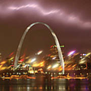 Thunderstorm Over The Arch Poster