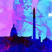 Washington Dc City Skyline Poster
