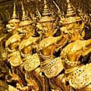 Wat Phra Kaeo Temple - Bangkok - Thailand.  Poster