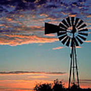 Windmill At Dawn Poster