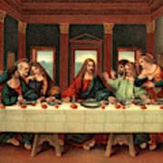 0030s The Last Supper After Leonardo Da Poster