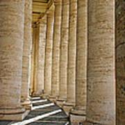 0056 Roman Pillars St. Peter's Basilica Rome Poster