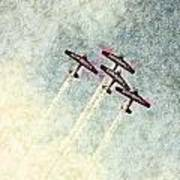 0166 - Air Show - Colored Photo 2 Hp Poster