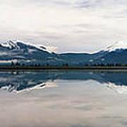0188 Mountain Reflection Poster