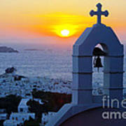 0209 Mykonos Sunset Poster
