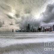 0242 Wintry Chicago Poster