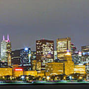 0247 Chicago Skyline Panoramic Poster