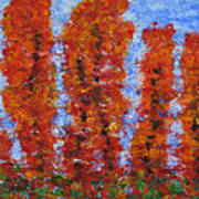 026 Red Trees Poster