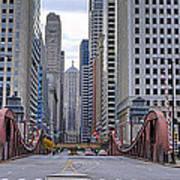 0525 Lasalle Street Bridge Chicago Poster