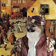 Icelandic Sheepdog Art Canvas Print  Poster