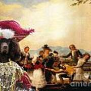 Irish Water Spaniel Art Canvas Print Poster
