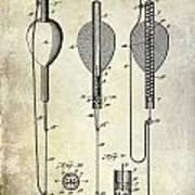 1902 Self Strike Fish Float Patent Poster