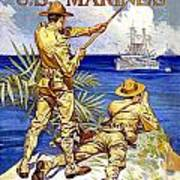 1917 - United States Marines Recruiting Poster - World War One - Color Poster