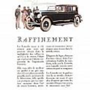 1926 Ad Lincoln Auto Automobile Poster