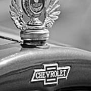 1928 Chevrolet Stake Bed Pickup Hood Ornament Poster by Jill Reger