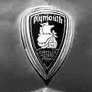 1930 Chrysler Plymouth Emblem Poster