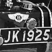 1931 Bentley 4.5 Liter Supercharged Le Mans Taillight Emblem Poster