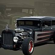 1931 Ford Sedan Hot Rod Poster