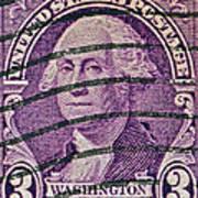 1932 George Washington Stamp Poster