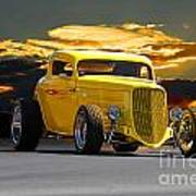1933 Ford Hiboy Coupe Poster