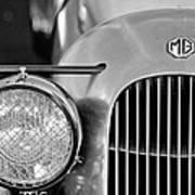 1934 Mg Pa Midget Supercharged Special Speedster Grille Poster by Jill Reger