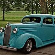 1936 Chevrolet Sedan Hot Rod Poster