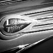 1938 Lincoln Zephyr Emblem Poster