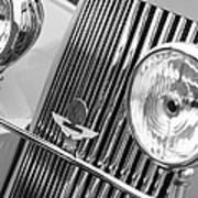 1939 Aston Martin 15-98 Abbey Coachworks Swb Sports Grille Emblems Poster
