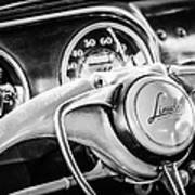 1941 Lincoln Continental Coupe Steering Wheel Emblem -0858c Poster